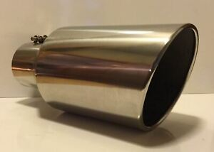Dodge 304 Polished Stainless Diesel Exhaust Tip 5 Inlet 8 Outlet 18 L