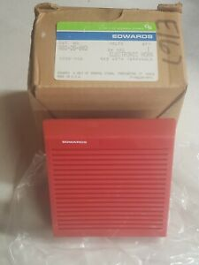 Edwards Electronic Fire Alarm Horn 882 2b 002 red 24 Vdc new school