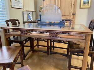 Gorgeous Antique Chinese Rosewood Furniture Dining Set 19th 20th Century