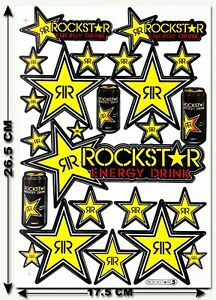 Rockstar Energy Sticker Motocross Motorcycle Skateboard Mtb Atv Enduro Decal 13