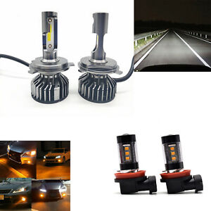 4pc H4 h11 Led Headlight Bulbs fog Light For Car Fit For Toyota Tacoma 2012 2015