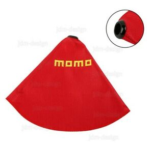 Jdm Momo Racing Hyper Fabric Shift Knob Shifter Boot Cover Mt At Red Stitches