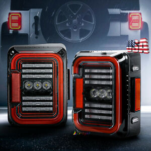 2020 New Led Tail Lights Rear Lamps Clear Len For Jeep Wrangler Jk Jku 2007 2017