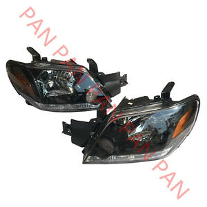 Pair Headlights Front Head Lamps Lights For Mitsubishi Outlander 2003 2006