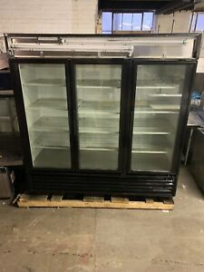 True Gdm 72 3 Door Glass Refrigerator Cooler Merchandiser Used