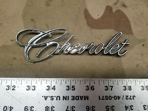 1969 1972 Chevrolet Script Emblem Badge Oem 9831025