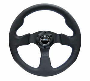 Nrg New Age Sport Steering Wheel 320mm Black Leather W Blue Stitch