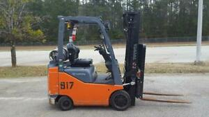 2 2017 Toyota 8fgcu18 Forklift Truck s 189 Side Shift Both Low Hour