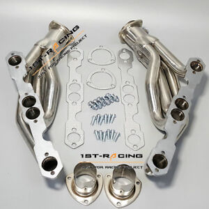 Stainlesssteel Turbo Exhaust Manifold For 88 97 Chevy Truck suv Headers 5 0 5 7l