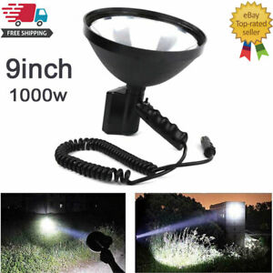 9 Inch 1000w Portable Fishing Camping Light 245mm Outdoor Hunting Spot Lamp 12v
