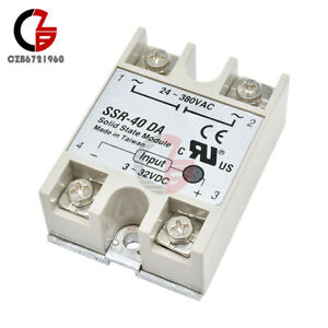 10pcs Ssr 40da Dc To Ac 40a Module Dc 3 32v To Ac 24 380v Solid State Relay