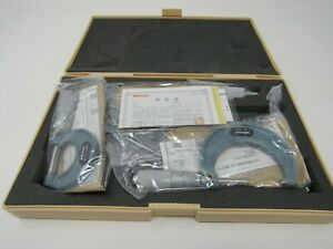 Mitutoyo Micrometer Set 0 3 103 922 With Original Case