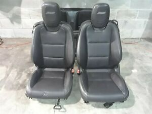 10 15 Camaro Ss Convertible Front Rear Black Leather Seats Seat Set Aa6518