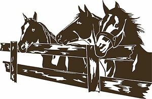 Horse Rodeo Western Fence Pasture Car Truck Window Laptop Vinyl Decal Sticker