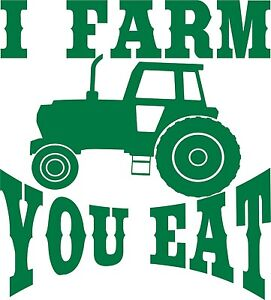 Farm Tractor Farming Agriculture Funny Truck Window Laptop Vinyl Decal Sticker