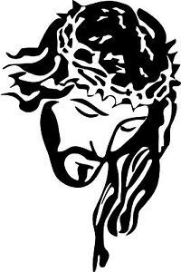 Jesus Christ Crown Lord God Bible Car Truck Window Laptop Vinyl Decal Sticker