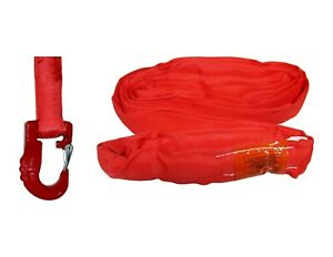 Usa Domestic Endless Round Sling Red W Hook Combo Domestic Crane Wrecker Towing