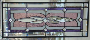 Stained Glass Transom Window Hanging 28 X 12 1 2