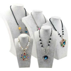 5x Necklace Pendant Display Bust Mannequin Stand Elegantly Jewelry Store