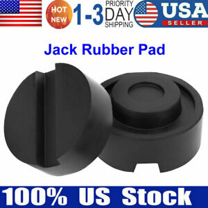 2pcs Rubber Jack Support Pad Lifting Car Support Pad Jacking Pad 65mmx33mm Black