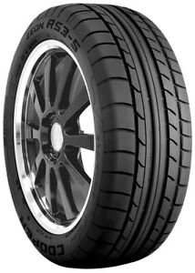 2 New Cooper Zeon Rs3 s 98w 20k mile Tires 2754017 275 40 17 27540r17