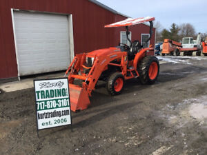 2017 Kubota L4060 4x4 Hydro Compact Tractor W Loader Only 500 Hours