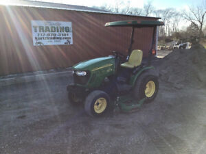 2010 John Deere 2320 4x4 Hydro Compact Tractor W Belly Mower Only 1500 Hours