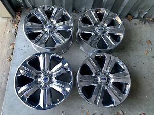 Set Of 4 Used Ford F150 04 20 20 Factory Oem Chrome Pvd Wheels Rims 10171