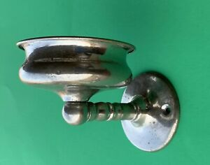 1875 Antique Hardware Victorian Chrome Nickel Bathroom Soap Cup Holder Accessory