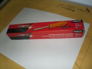 Snap On Ssdmr4bo Ratcheting Orange Hard Handle Screwdriver New