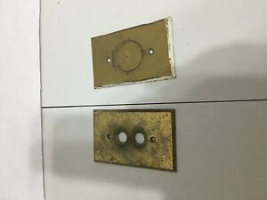 Vintage Brass Switch Plate Covers