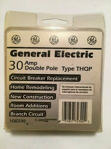 Lot Of 2 General Electric Ge 30 Amp Double Pole Circuit Breaker Type Thqp Ge230