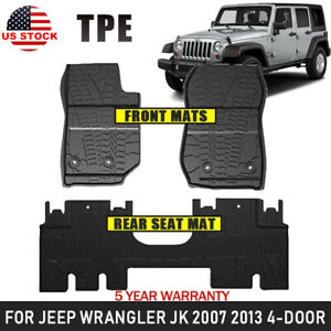 Fit All Inclement Weather Tpe Floor Mats For Jeep Wrangler Jk 4d 07 13 Us