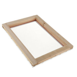 Screen Printing Mesh Screen With Natural Wooden Frame 32t 10x14inch Accessory