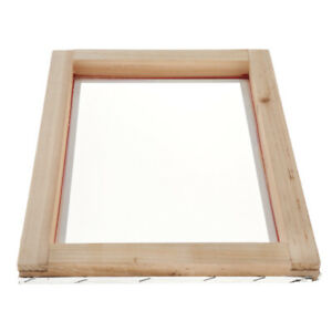 Screen Printing Mesh Screen With Natural Wooden Frame 77t 12x16inch Accessory