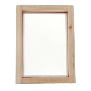 Screen Printing Mesh Screen With Natural Wooden Frame 43t 8x12inch Accessory