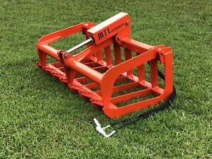 Mtl Attachments Compact Tractor skid Steer 48 Root Grapple Bucket free Ship usa