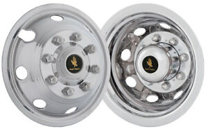Chevy Silverado 3500 17 Wheel Simulators Hubcaps Snap On Stainless Wheel Covers