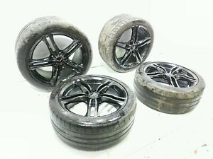 17 Chevrolet Corvette C7 Wheel Rim Set 18 19 Michelin Pilot Tires
