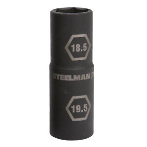 Steelman Pro 1 2 In Drive 6 Pt Thin Wall 18 5 X 19 5mm Impact Flip Socket 97025