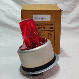 Tomar Mini strobe Model 700 110 Red 120 Volts Ac Free Shipping