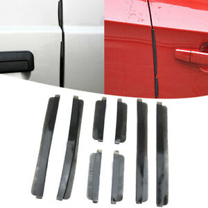 Car Door Edge Guard Strip Anti Collision Scratch Protector Trim Black Kits New