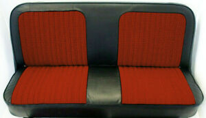 67 72 Chevy Gmc C10 Truck Red Black Houndstooth Bench Seat Cover Made In Usa