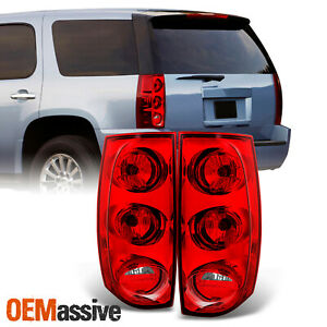 Fit 2007 2014 Gmc Yukon Xl 1500 2500 L R Side Tail Lights Replacement