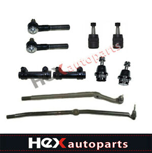 10pc Front Suspension Kit Tie Rods For 2003 2008 Dodge Ram 1500 2500 3500