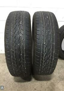 2x Take Off P265 65r18 Continental Crosscontact Lx20 Eco Plus 11 32 Used Tires