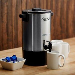 New Avantco 30 Cup Electric Coffee Maker Urn Machine Stainless Steel Brewer