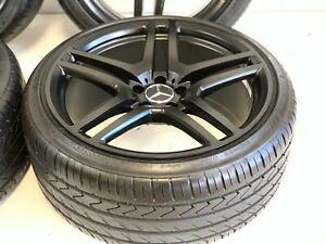 20 4 S C E Cls Class Amg Style Ml Wheels Rims Tires Fits Mercedes 5x112 Black