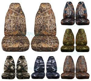 04 12 Chevy Colorado Gmc Canyon Camouflage Truck Bucket Seat Covers 16 Prints