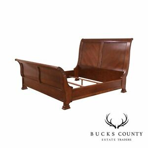 King Size Cherry Mahogany Sleigh Bed